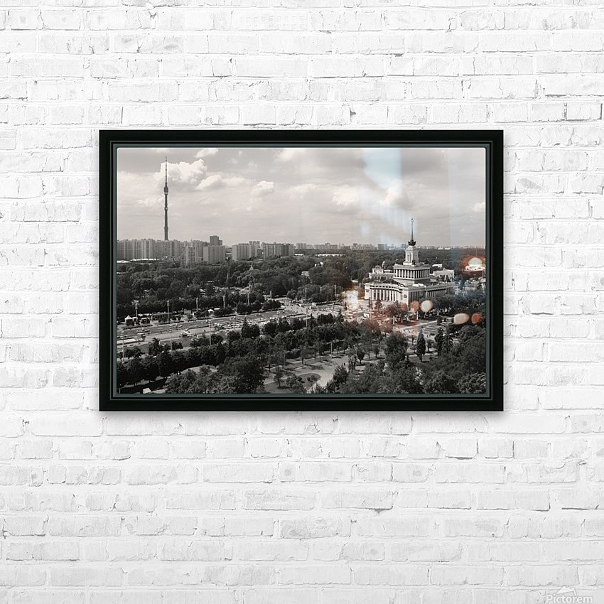 Moscow Air View I HD Sublimation Metal print with Decorating Float Frame (BOX)