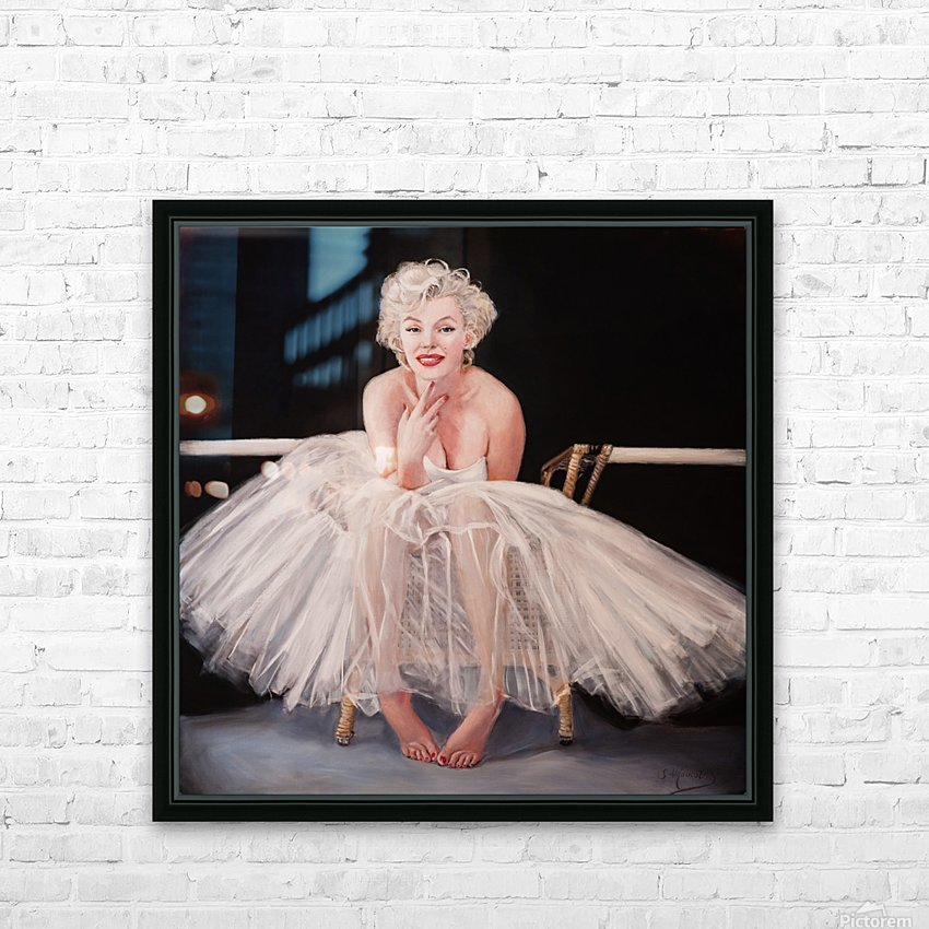 Marilyn ballerina sitting  HD Sublimation Metal print with Decorating Float Frame (BOX)