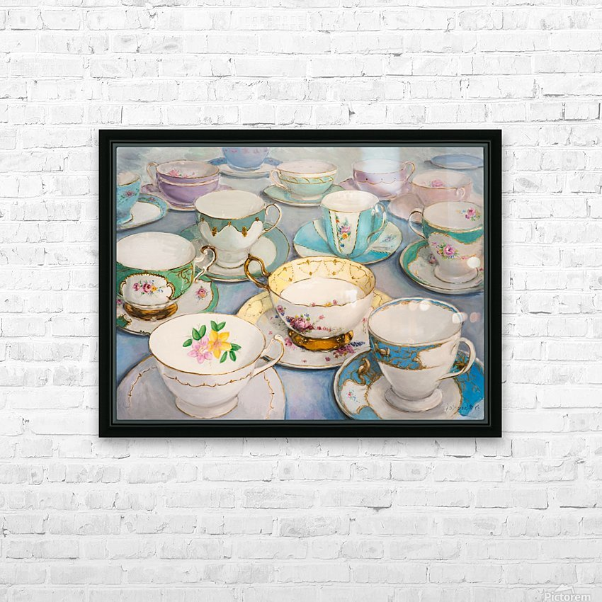 Vintage tea cups 3622x4022  HD Sublimation Metal print with Decorating Float Frame (BOX)