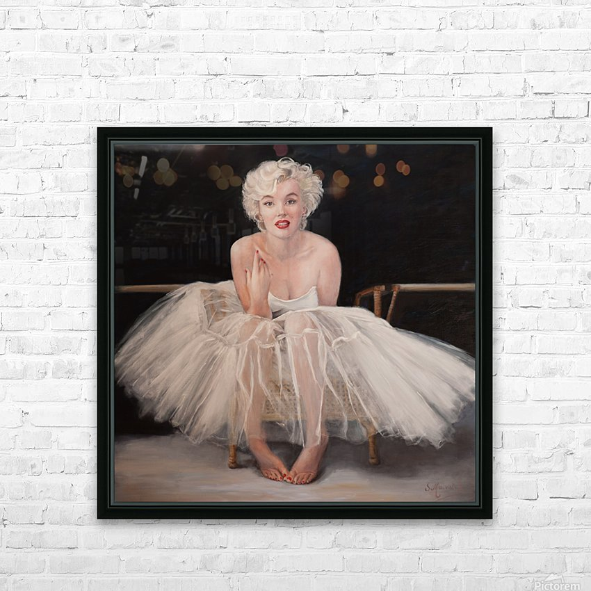 Marilyn in white ballet dress 1 HD Sublimation Metal print with Decorating Float Frame (BOX)