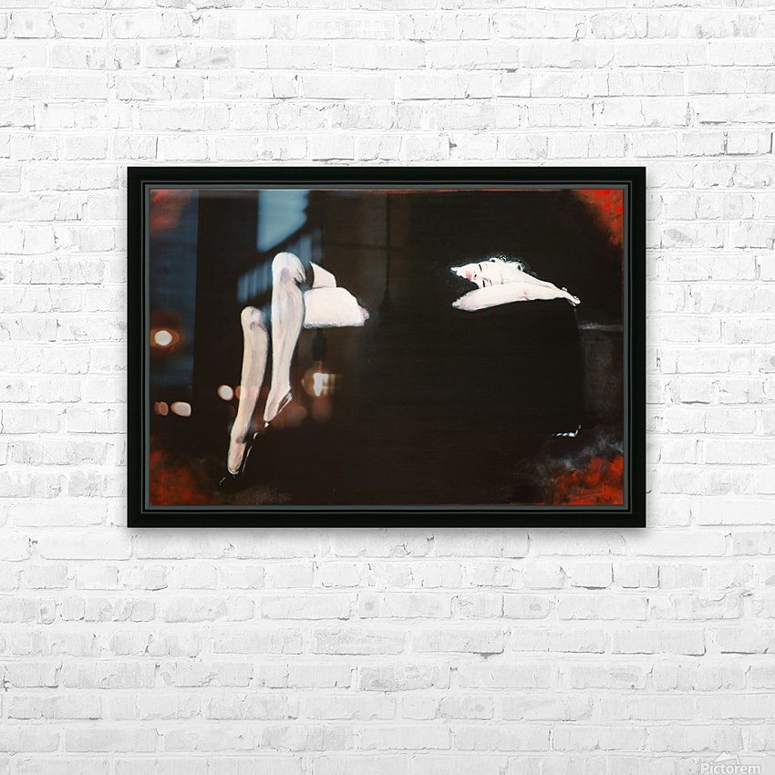 Marilyn black sitting 106   oil painting  portrait 1 HD Sublimation Metal print with Decorating Float Frame (BOX)