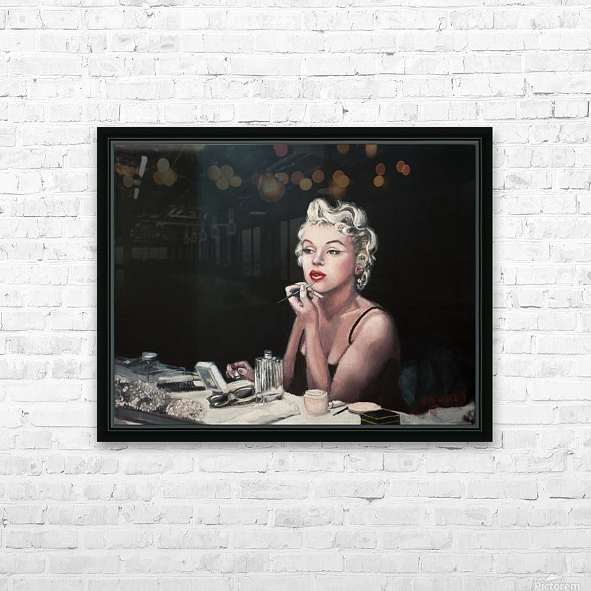 Marilyn backstage  oil painting  portrait 1 HD Sublimation Metal print with Decorating Float Frame (BOX)