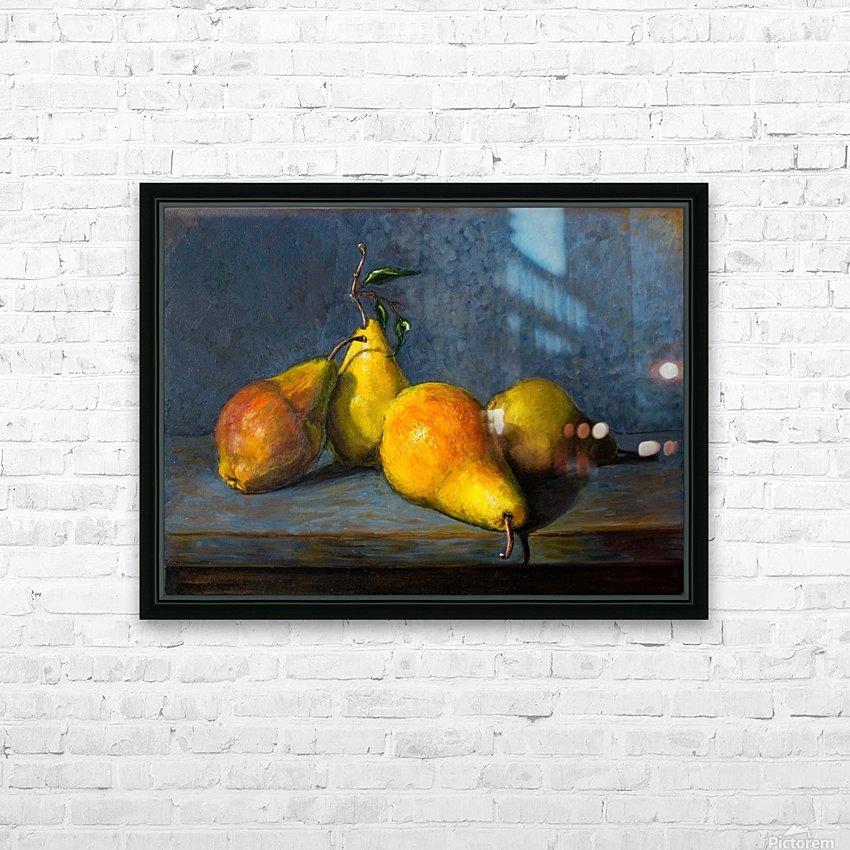 Quatre poires pour Anna  HD Sublimation Metal print with Decorating Float Frame (BOX)