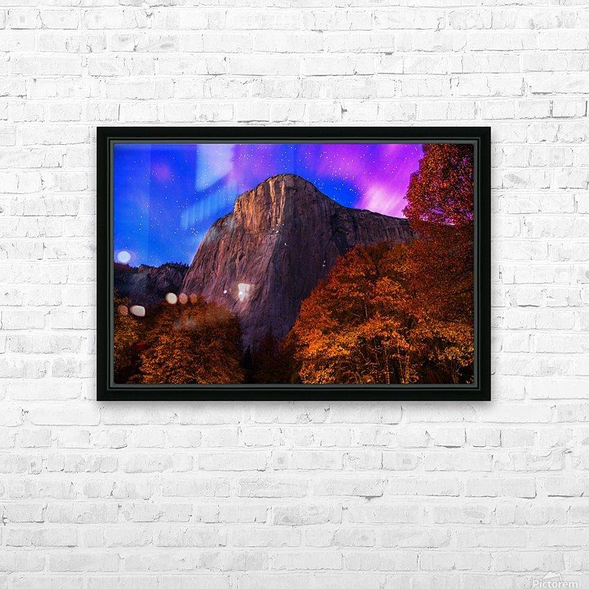 El Capitan Climbers at Night Yosemite National Park HD Sublimation Metal print with Decorating Float Frame (BOX)