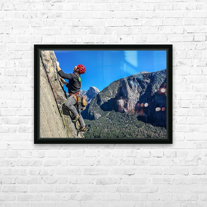 Climber on El Capitan HD Sublimation Metal print with Decorating Float Frame (BOX)