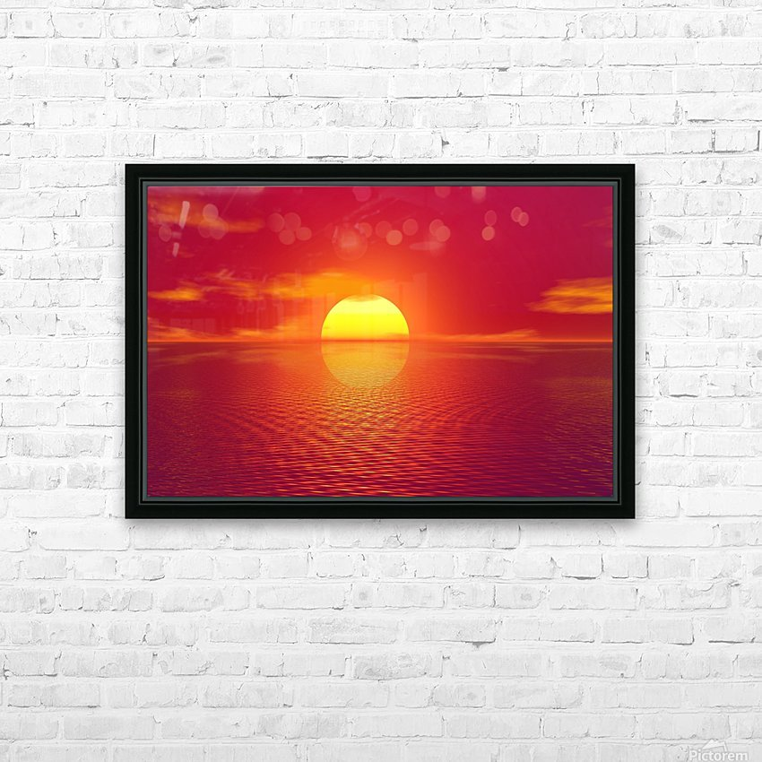 Beautiful Nature Landscape sunrise sunset sun Photography landscape photo Scenery HD Sublimation Metal print with Decorating Float Frame (BOX)