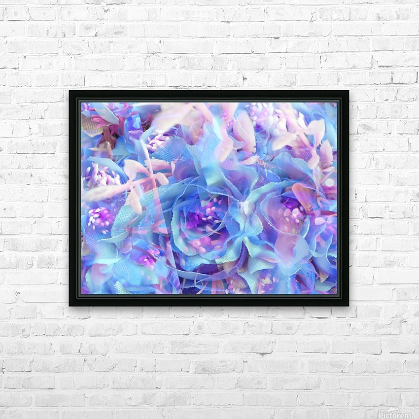 blooming blue rose texture abstract background HD Sublimation Metal print with Decorating Float Frame (BOX)