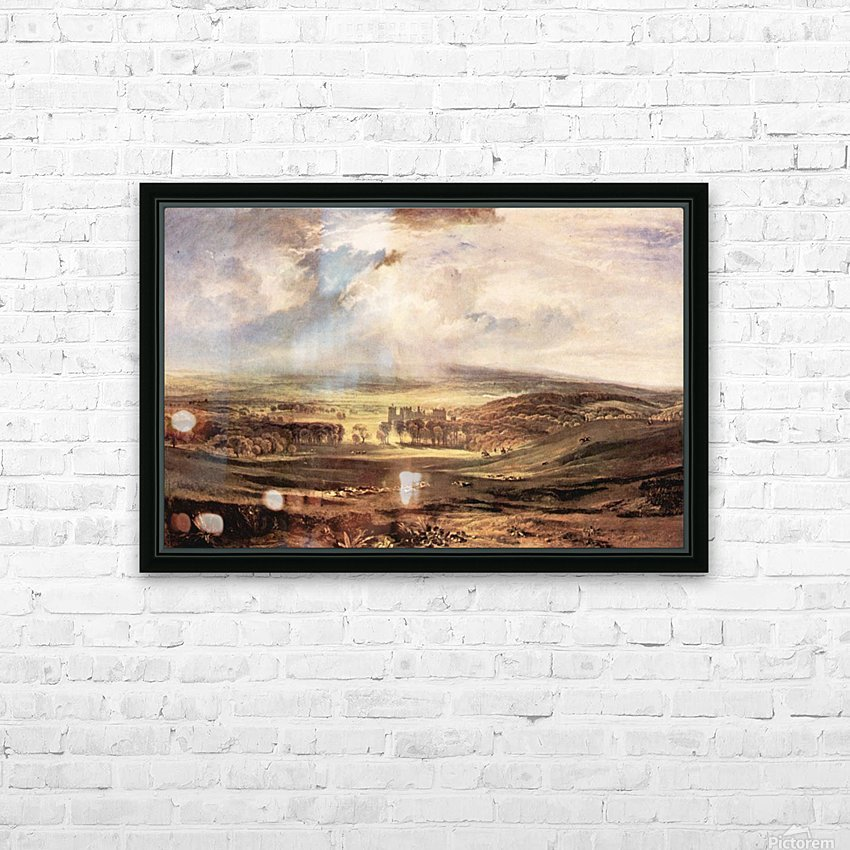Raby Castle by Joseph Mallord Turner HD Sublimation Metal print with Decorating Float Frame (BOX)