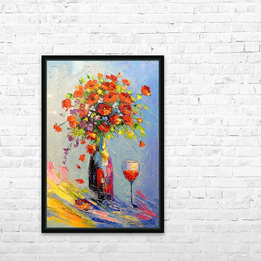 Holiday with a bouquet HD Sublimation Metal print with Decorating Float Frame (BOX)