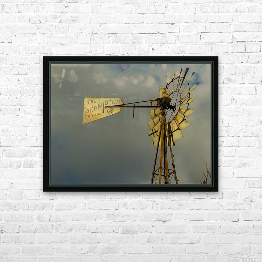 Aeromotor Windmill HD Sublimation Metal print with Decorating Float Frame (BOX)