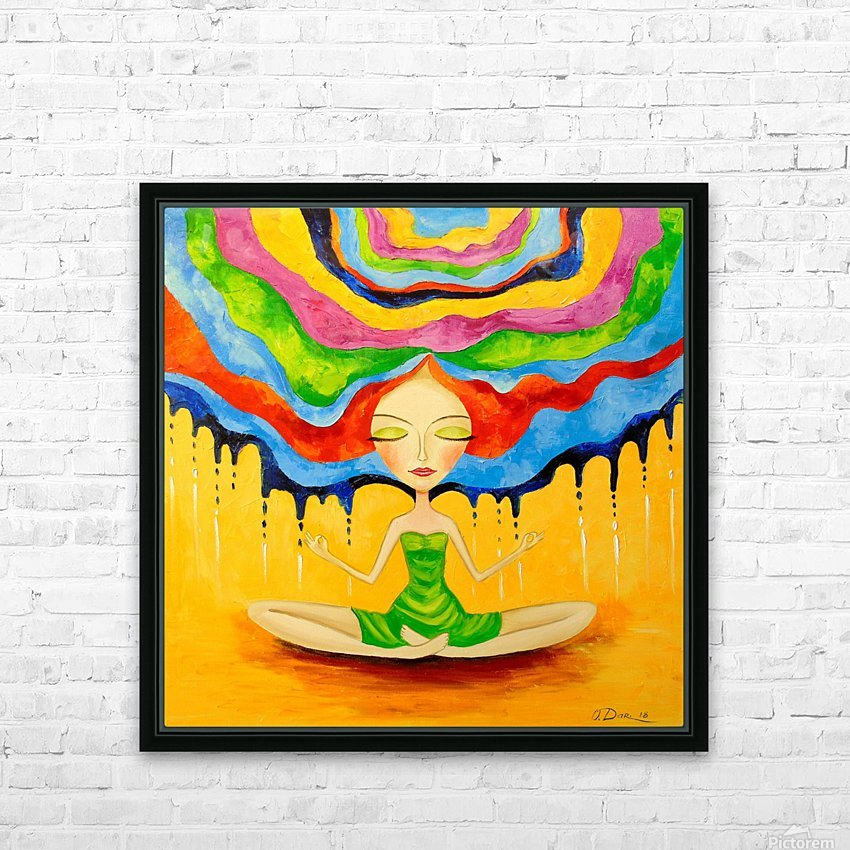 Meditation HD Sublimation Metal print with Decorating Float Frame (BOX)