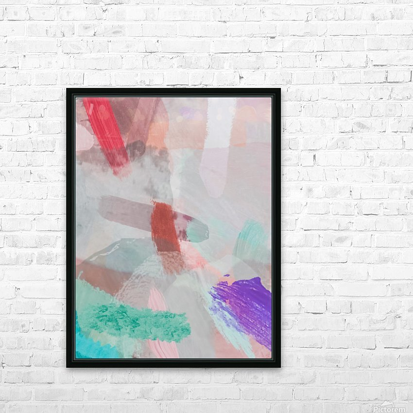 brush painting texture abstract background in red pink purple green HD Sublimation Metal print with Decorating Float Frame (BOX)