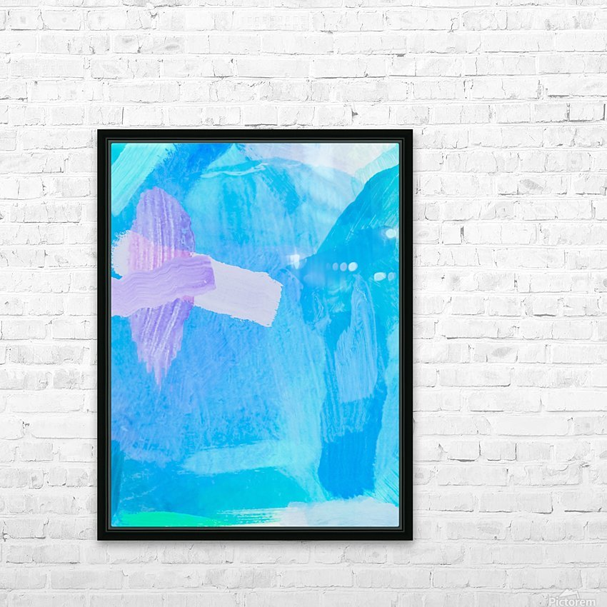 brush painting texture abstract background in blue purple HD Sublimation Metal print with Decorating Float Frame (BOX)