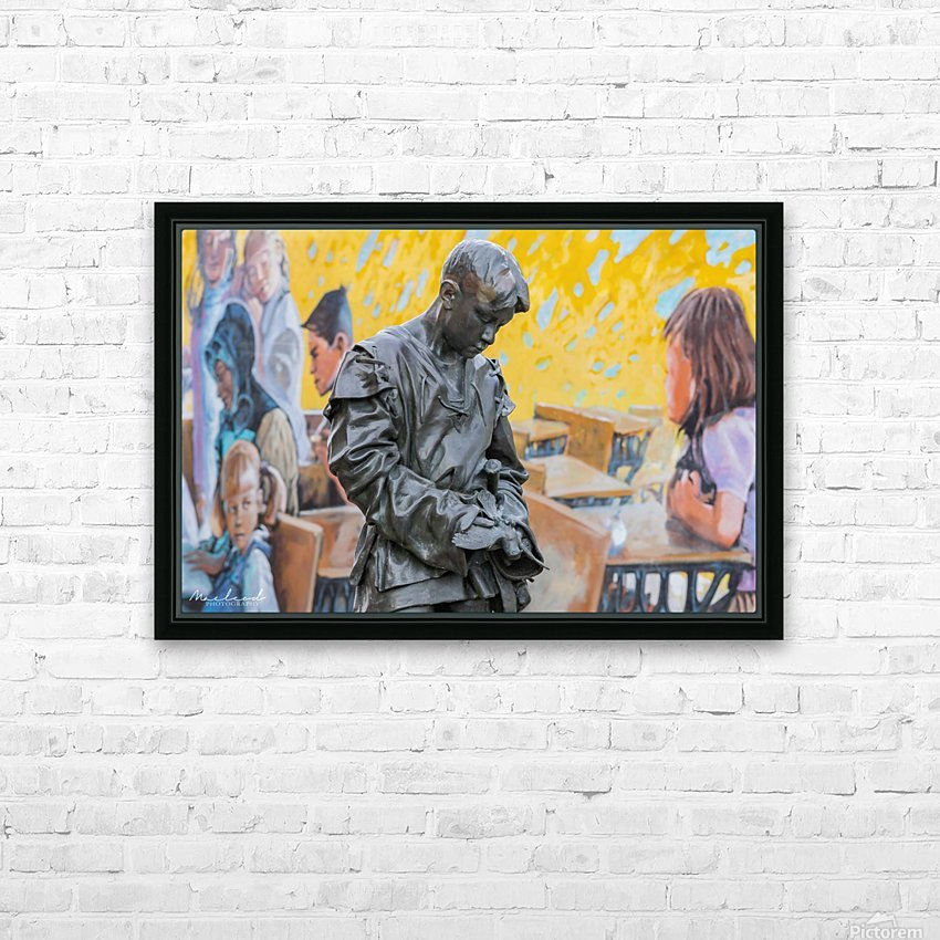 StAlbertStatue_DSC4614 HD Sublimation Metal print with Decorating Float Frame (BOX)