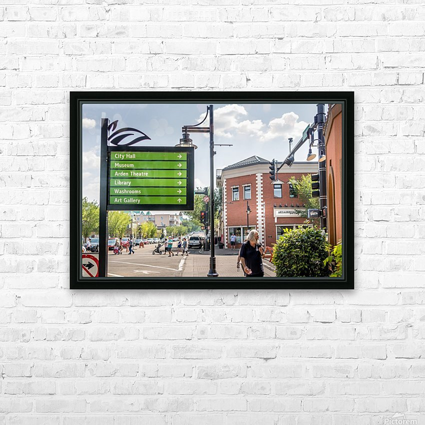 DowntownStAlbert_IMG_4484 HD Sublimation Metal print with Decorating Float Frame (BOX)