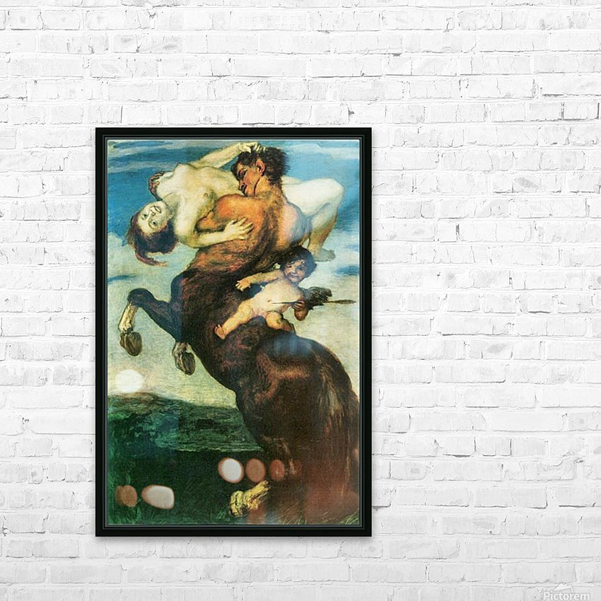 Rape of a nymph by Franz von Stuck HD Sublimation Metal print with Decorating Float Frame (BOX)