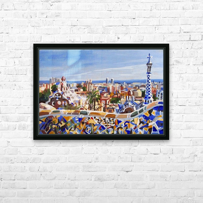 Barcelona HD Sublimation Metal print with Decorating Float Frame (BOX)