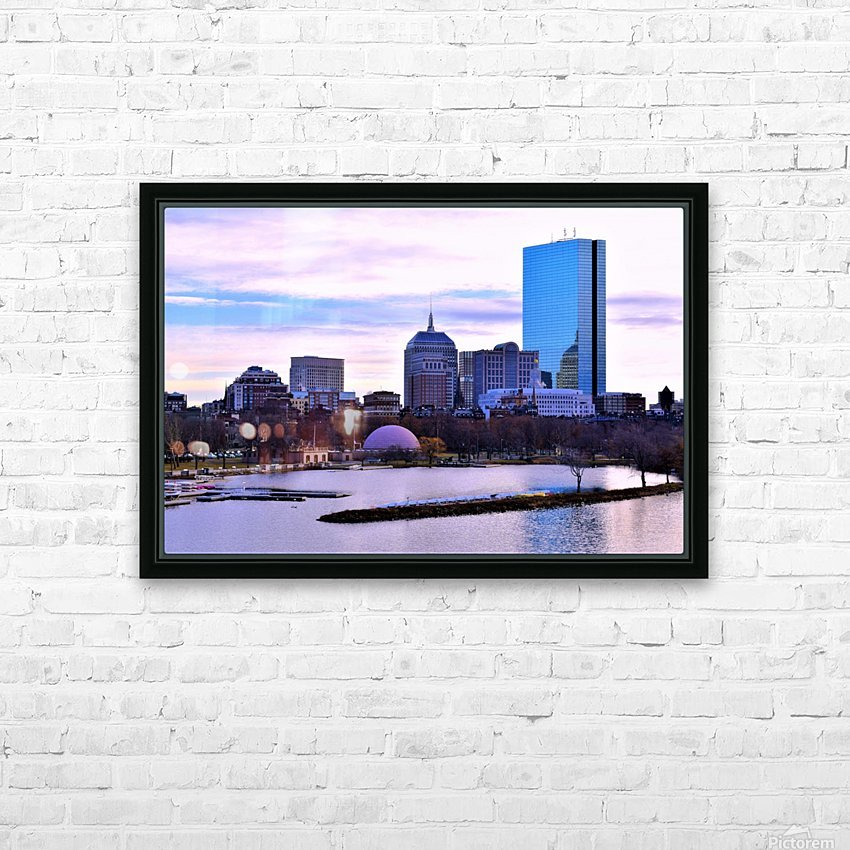 12.5.18 Skyline Boston HD Sublimation Metal print with Decorating Float Frame (BOX)