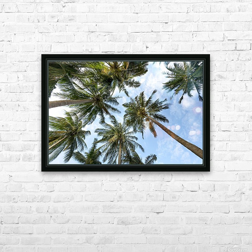 palm trees, sky, palms, background, summer, tropical, nature, holidays, travel, paradise, outdoors, HD Sublimation Metal print with Decorating Float Frame (BOX)