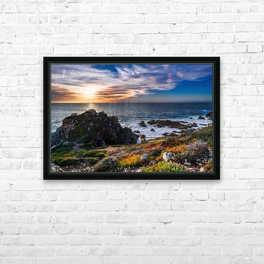 sea, seashore, water, nature, sky, blue, summer, landscape, colorful, clouds, sunset, outdoor, HD Sublimation Metal print with Decorating Float Frame (BOX)