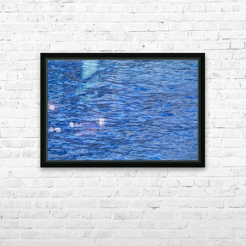 water, blue, structure, nature, wave, swimming pool, swim, liquid, HD Sublimation Metal print with Decorating Float Frame (BOX)