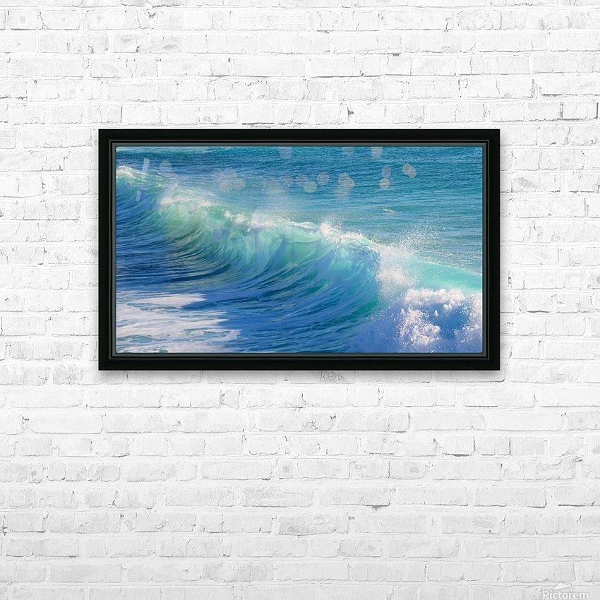 surf, water, wave, sea, nature, turquoise, ocean, splash, seashore, panoramic, spray, foam, HD Sublimation Metal print with Decorating Float Frame (BOX)