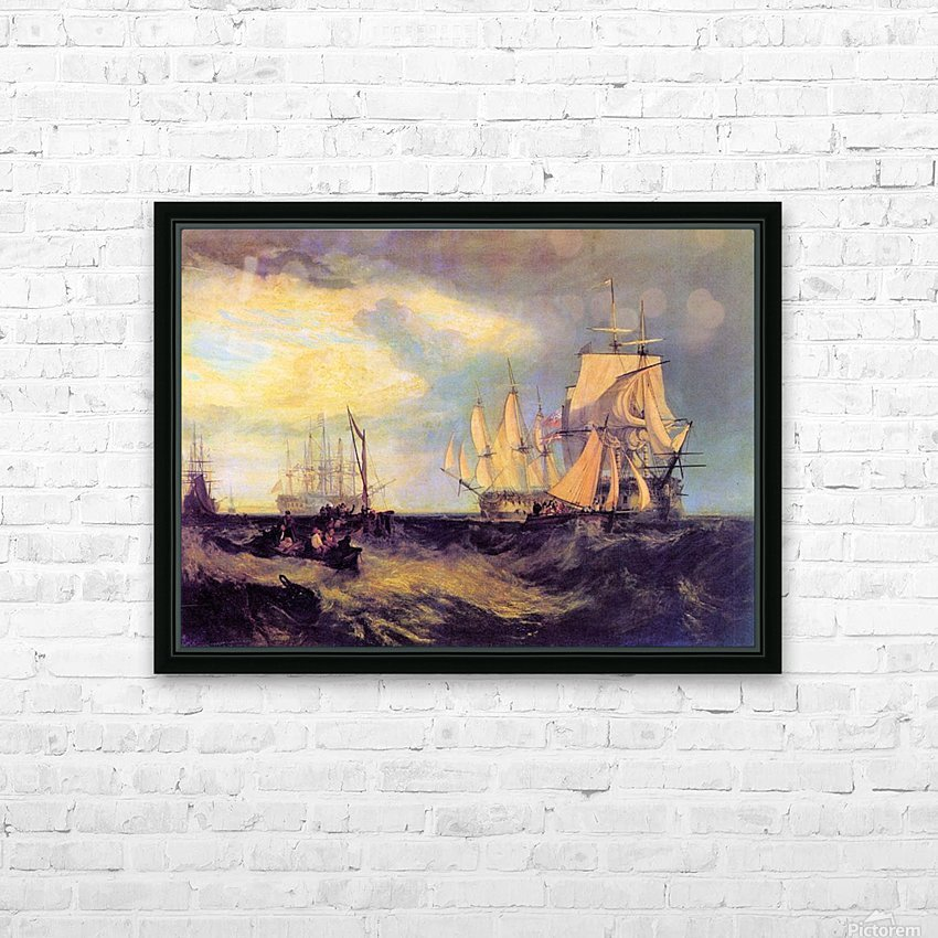 Recovering an anchor by Joseph Mallord Turner HD Sublimation Metal print with Decorating Float Frame (BOX)