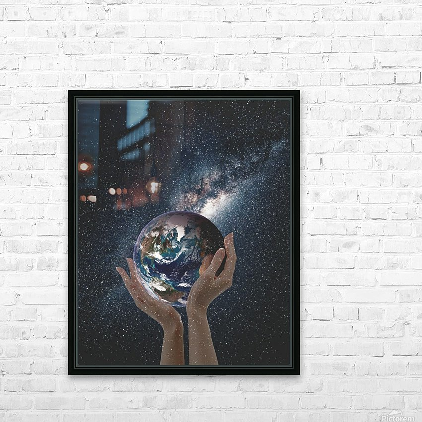 Mother Natures Hands HD Sublimation Metal print with Decorating Float Frame (BOX)