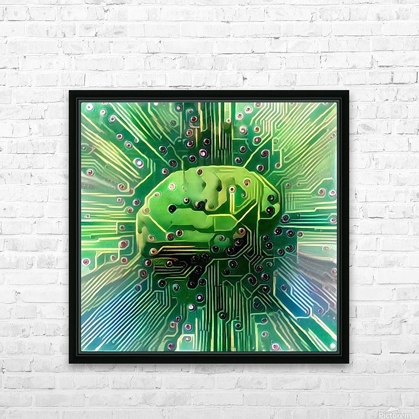 Electronic Brain HD Sublimation Metal print with Decorating Float Frame (BOX)