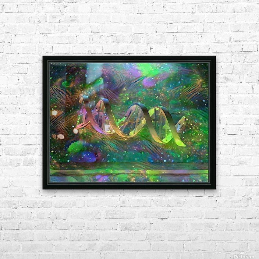 DNA Strand Artwork HD Sublimation Metal print with Decorating Float Frame (BOX)