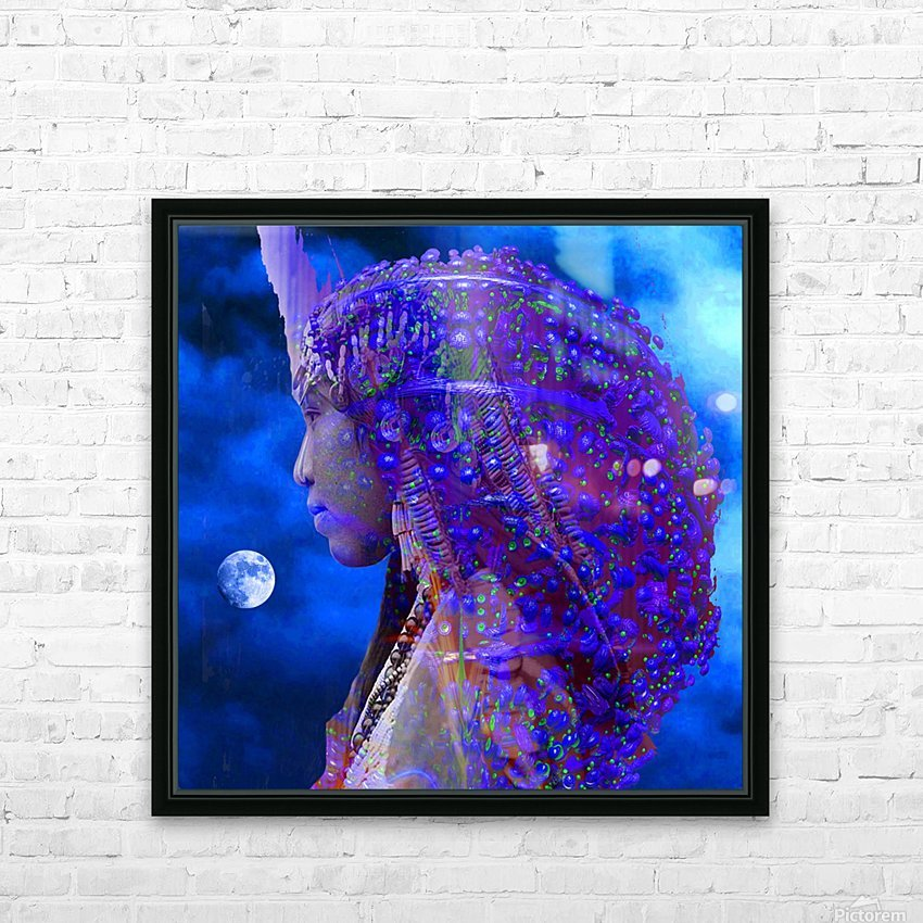 Moon Shadow HD Sublimation Metal print with Decorating Float Frame (BOX)