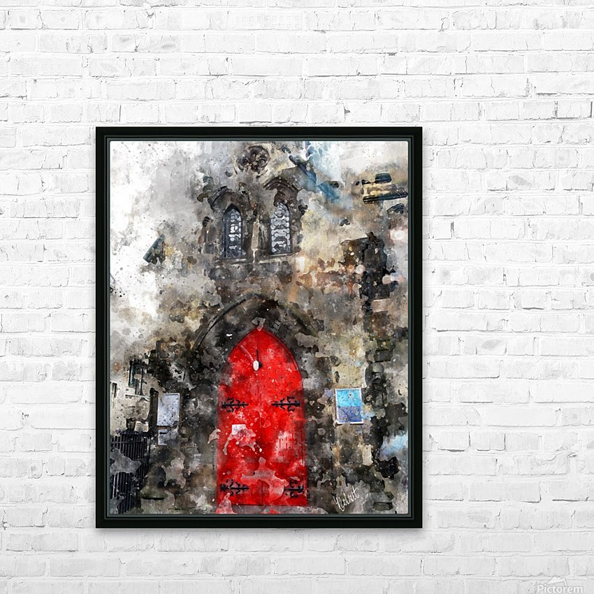 Red Door Edinburgh HD Sublimation Metal print with Decorating Float Frame (BOX)