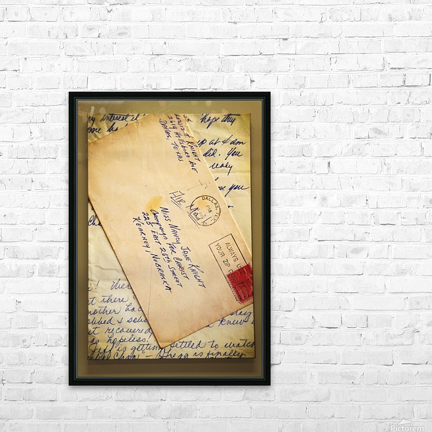 Old Letters HD Sublimation Metal print with Decorating Float Frame (BOX)