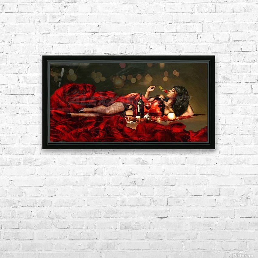 Red of the red HD Sublimation Metal print with Decorating Float Frame (BOX)