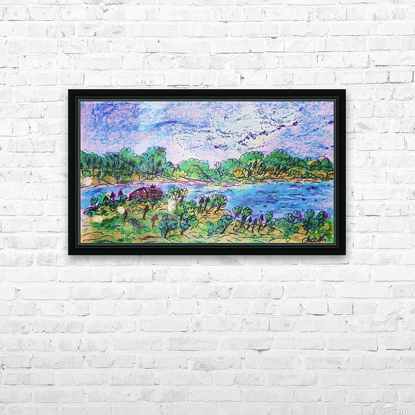 Dusk on the River HD Sublimation Metal print with Decorating Float Frame (BOX)