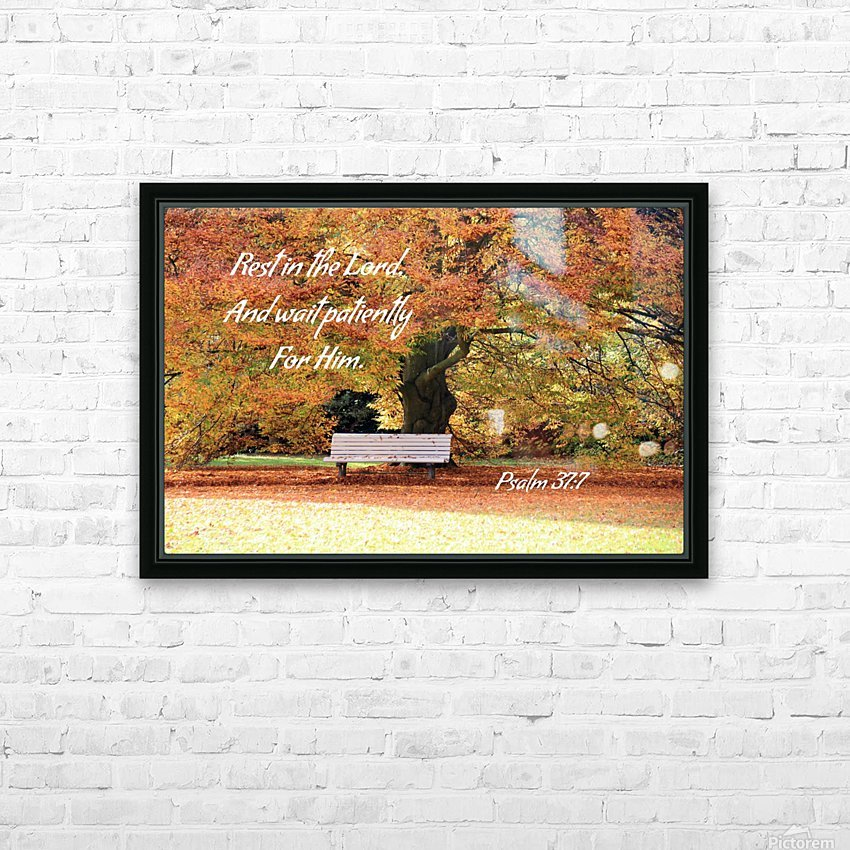 Rest in the Lord HD Sublimation Metal print with Decorating Float Frame (BOX)