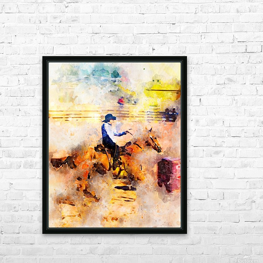 Rock Creek Rodeo Girl HD Sublimation Metal print with Decorating Float Frame (BOX)