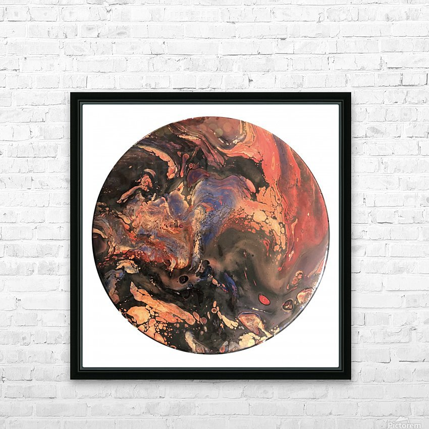 Lava HD Sublimation Metal print with Decorating Float Frame (BOX)