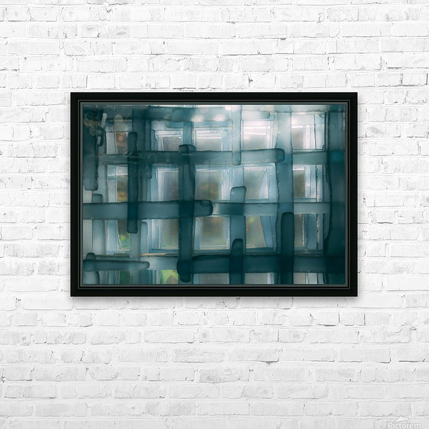 Glass lines 1 triptych HD Sublimation Metal print with Decorating Float Frame (BOX)