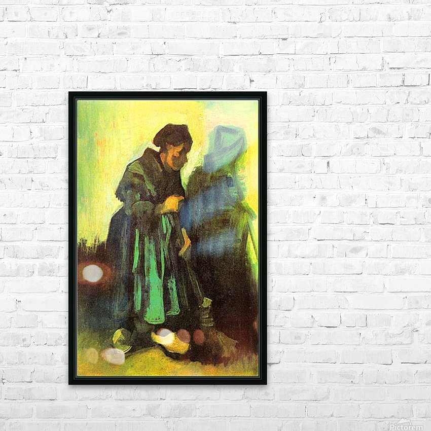 Return of the farmer by Van Gogh HD Sublimation Metal print with Decorating Float Frame (BOX)