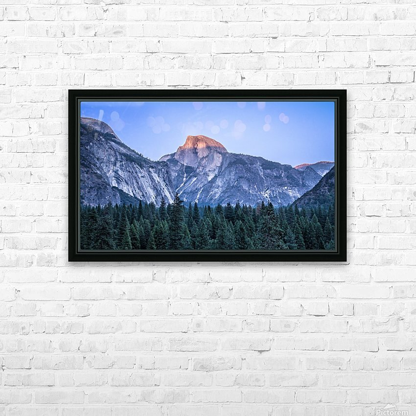 Half Dome Sunset Yosemite National Park HD Sublimation Metal print with Decorating Float Frame (BOX)
