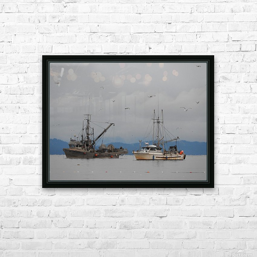 Herring Season HD Sublimation Metal print with Decorating Float Frame (BOX)