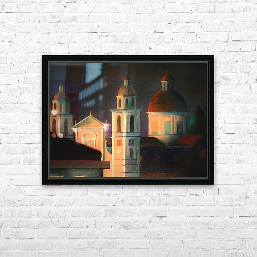 la basilica a Lavagna HD Sublimation Metal print with Decorating Float Frame (BOX)