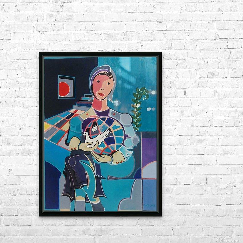 Sentinelle de la Paix HD Sublimation Metal print with Decorating Float Frame (BOX)