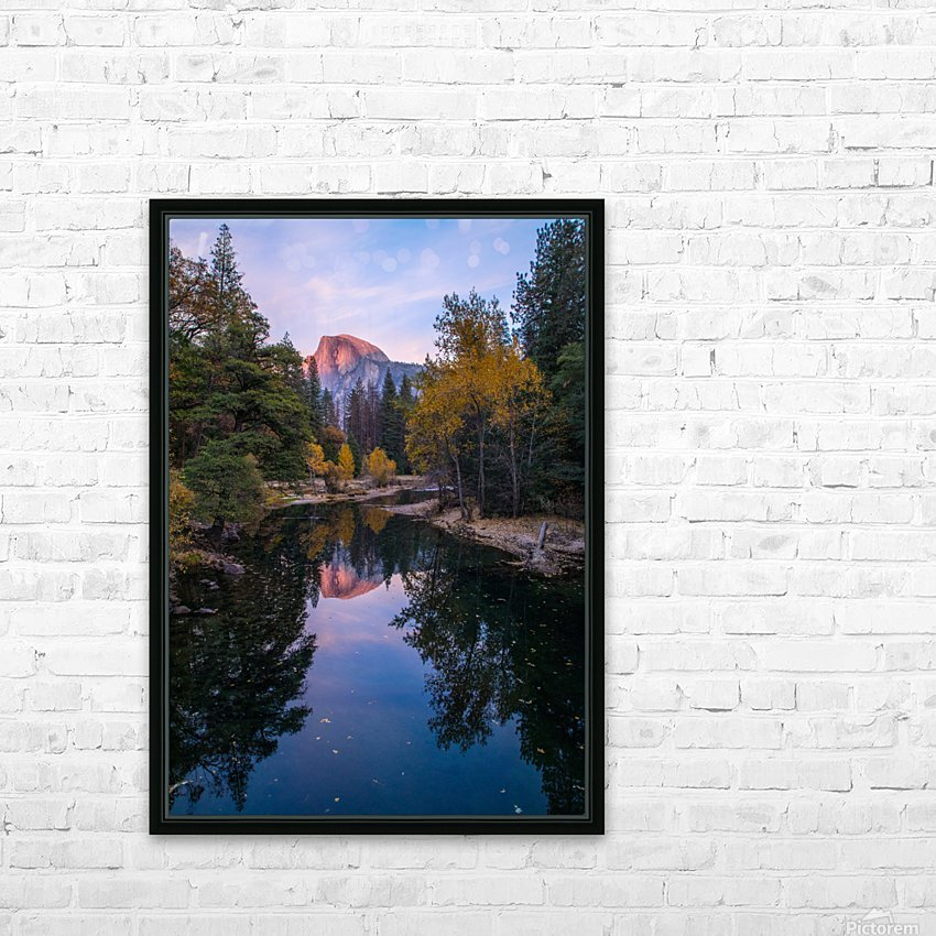 Half Dome in Autumn HD Sublimation Metal print with Decorating Float Frame (BOX)