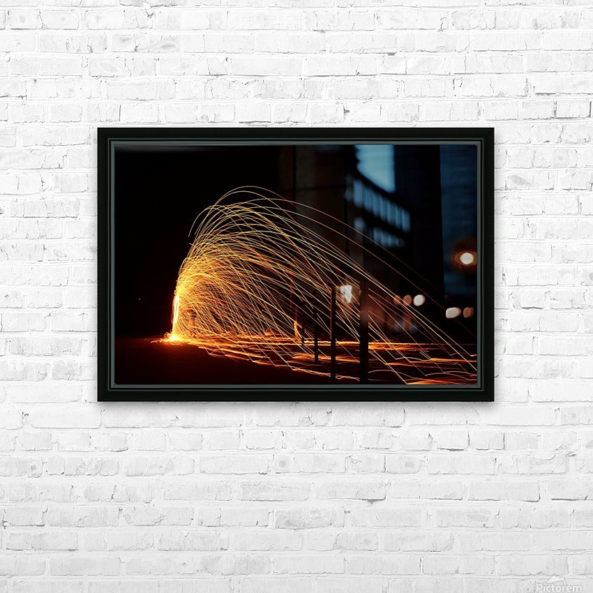Majestic Flames HD Sublimation Metal print with Decorating Float Frame (BOX)