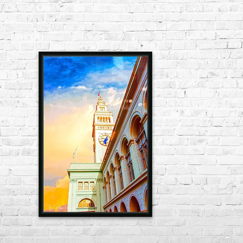 San Francisco Ferry Building Clock Tower By Terri Phillips Mierkey HD Sublimation Metal print with Decorating Float Frame (BOX)