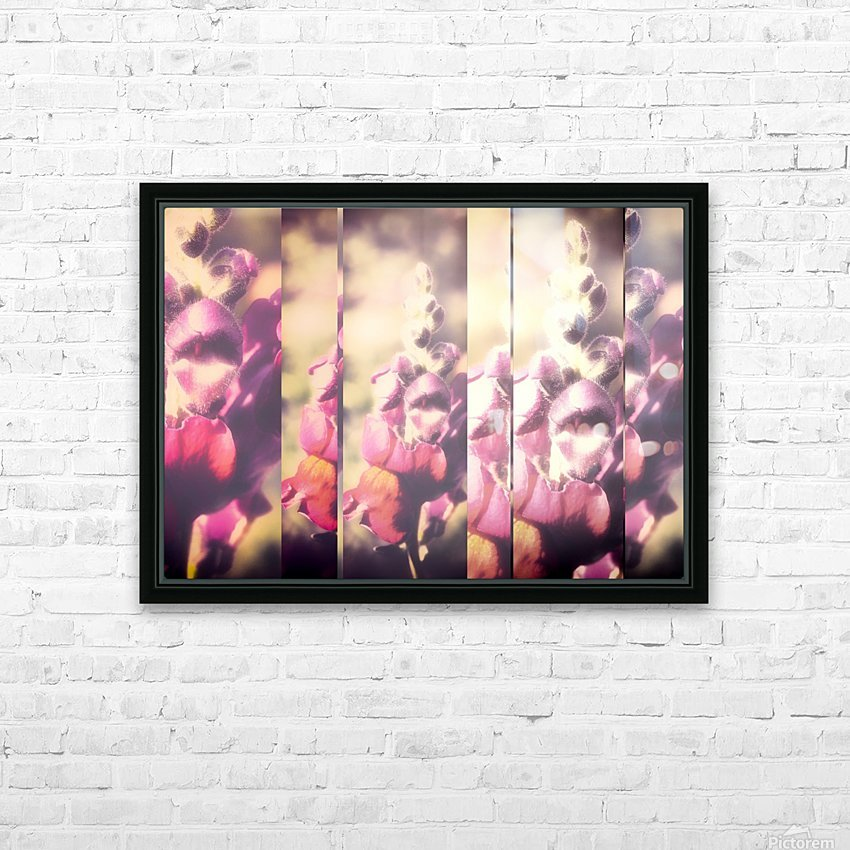 Lupine Fuchsia Collage HD Sublimation Metal print with Decorating Float Frame (BOX)