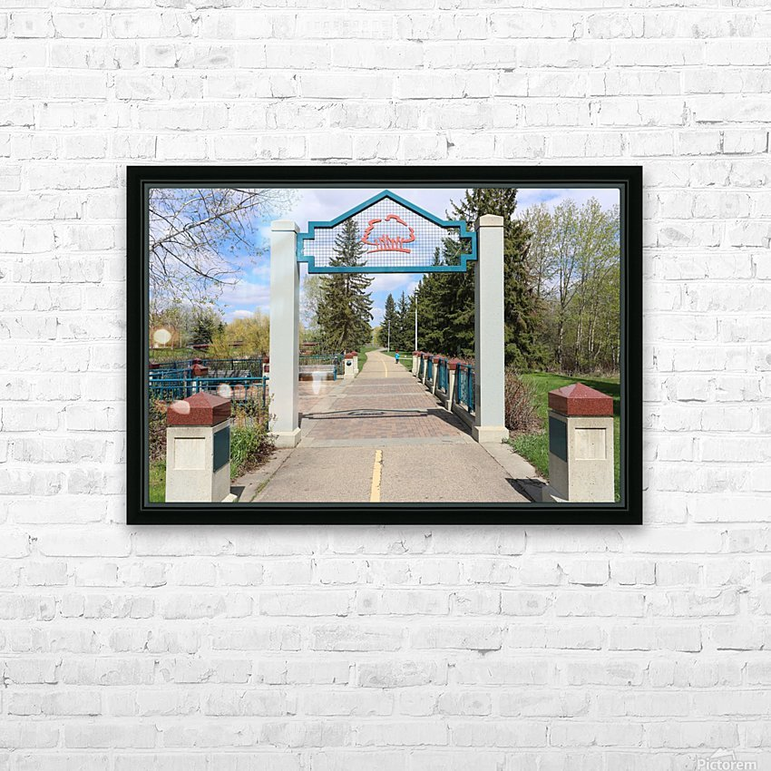 Red Willow Trail HD Sublimation Metal print with Decorating Float Frame (BOX)