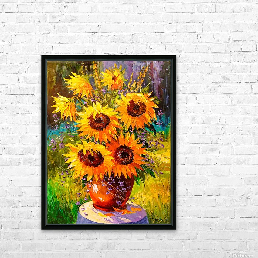 A bouquet of sunflowers HD Sublimation Metal print with Decorating Float Frame (BOX)